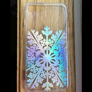 Holographic Snowflake Clear Phone Case